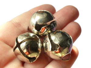Silver Jingle Bells 24mm Bells Christmas Sleigh Bell Charms Beads Jewelry Making Beading Supplies Craft Supplies Smileyboy