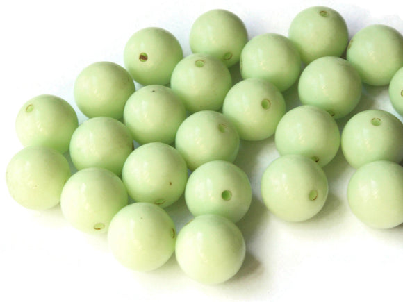 12mm Beads Large Round Light Green Beads Vintage Lucite Beads Celadon Beads Ball Beads Gumball Beads New Old Stock Beads Jewelry Making