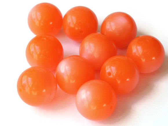 14mm Round Orange Beads Vintage Beads Moonglow Lucite Beads Jewelry Making New Old Stock Craft Supplies Orange Lucite Beads Moon Glow Bead