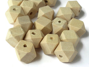 12mm Faceted Cube Beads Wood Beads Unfinished Beads Raw Beads Light Brown Beads Jewelry Making Beading Supplies Macrame Beads Wooden Bead
