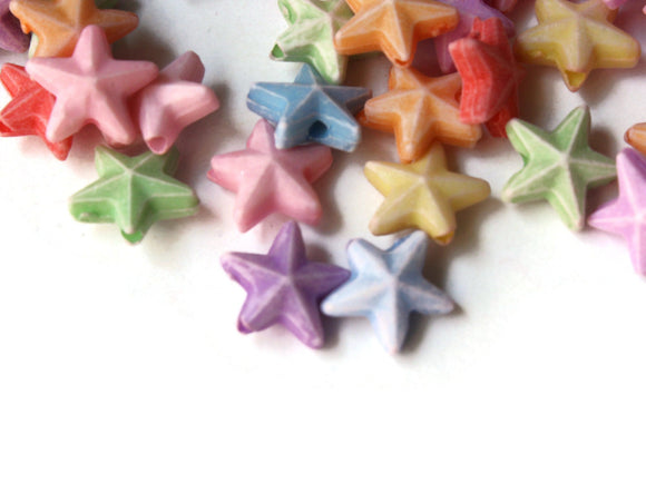 10mm Mixed Colors Star Plastic Beads Loose Miniature Celestial Beads Jewelry Making Beading Supplies Acrylic Sky Beads to String