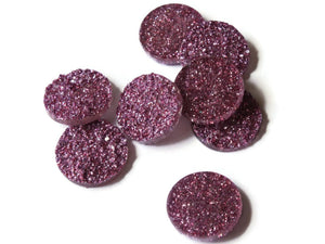 18mm Purple Druzy Cabs Faux Druzy Cabochons Resin Cabochons Round Cabochons for Jewelry Making Beading Supplies Glitter Cabochons