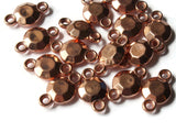 17mm Red Copper Flat Faceted Round Links Vintage Copper Plated Plastic Beads Jewelry Making Beading Supplies Shiny Metal Focal Beads