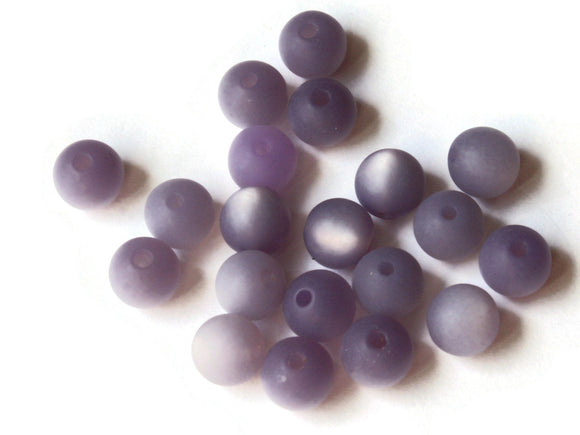 8mm Purple Matte Lucite Beads Round Beads Moonglow Lucite Bead Vintage Beads Ball Beads Jewelry Making Beading Supplies Smileyboy