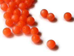 6mm Moonglow Lucite Vintage Beads Round Orange Beads New Old Stock Lucite Beads for Jewelry Making Beading Supplies Craft Supplies