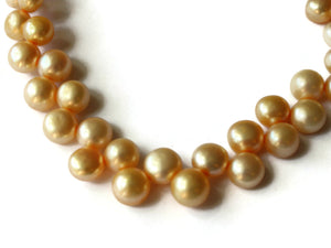 8mm Yellow Natural Pearl Baroque Button Beads Jewelry Making Beading Supplies Beads To String