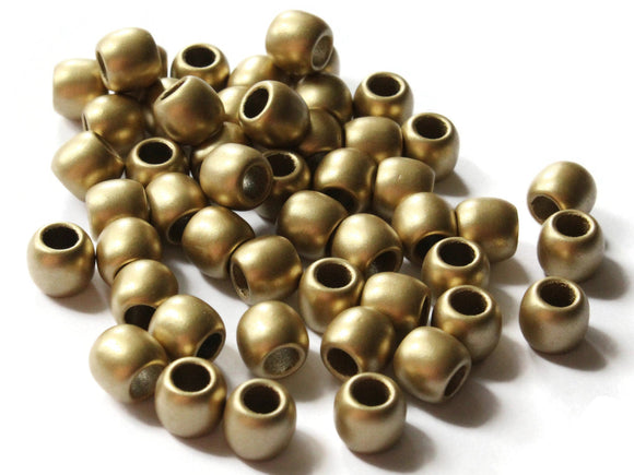9mm Gold Acrylic Beads Tube Beads to String Large Hole Beads Spray Painted Beads Lightweight Beads European Style Beads Jewelry Making