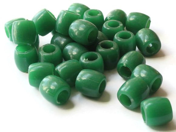 30 11mm Green Tube Beads Vintage Plastic Beads New Old Stock Beads Jewelry Making Beading Supplies Straight Tube Beads Smileyboy