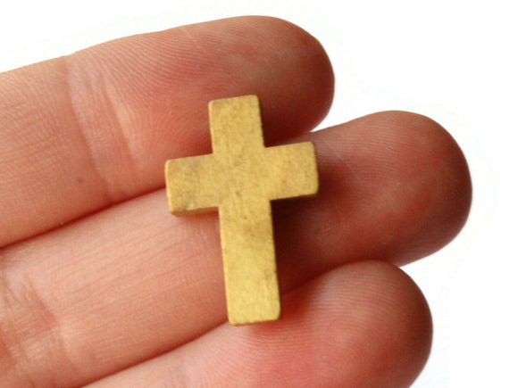 20 21mm Natural Wood Cross Pendant Brown Cross Beads Jewelry Making Beading Supplies Christian Charms Religious Pendants