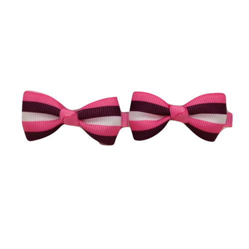 Bow Clip - Strip Pink