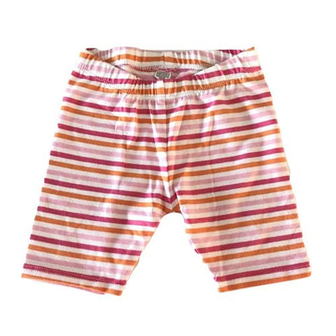 Baby Girls Stripe Leggings (Pink)