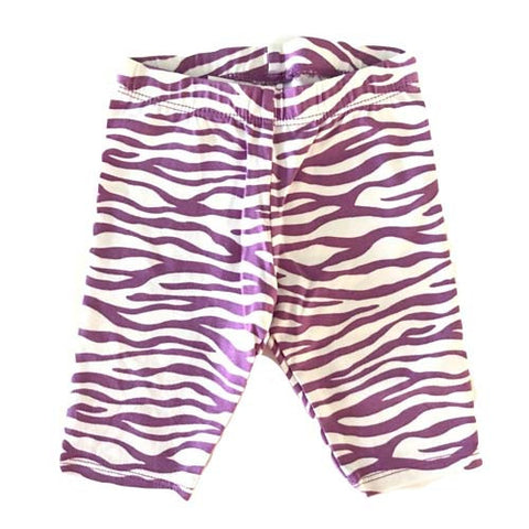 Baby Girls Stripe Leggings (Purple)
