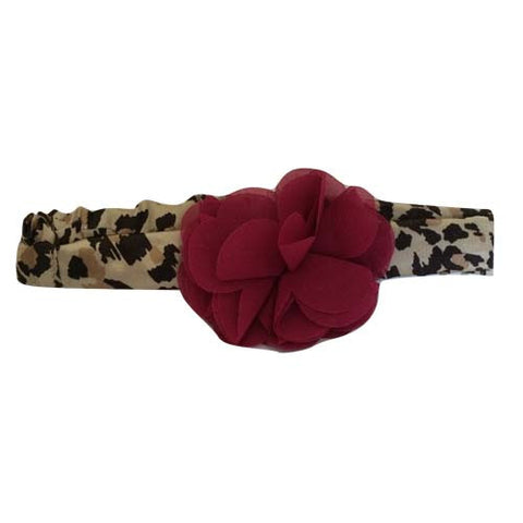 Baby Leopard Bow Head Wrap