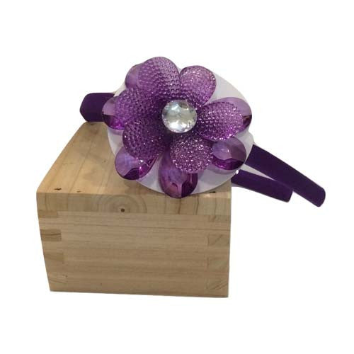 Jewel Flower Headband (Purple)