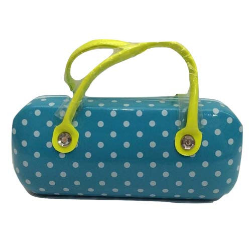 Sunglasses Box (Blue Polka)