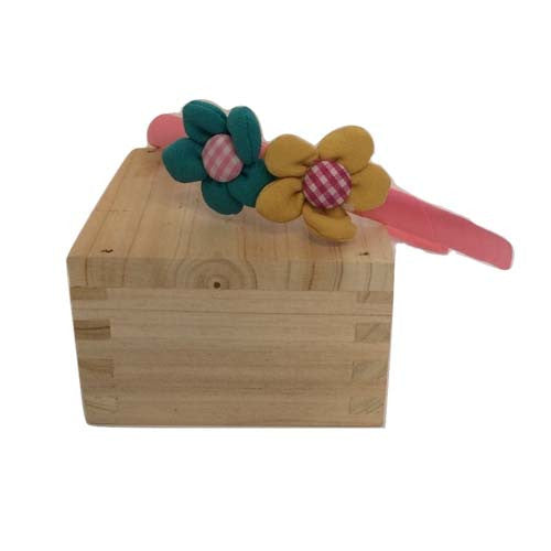 Flower Bow Hair Band (Pink)