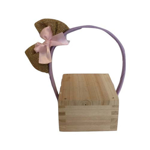 Bow Hair Band (Purple)