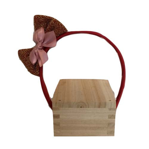 Bow Hair Band (Pink)