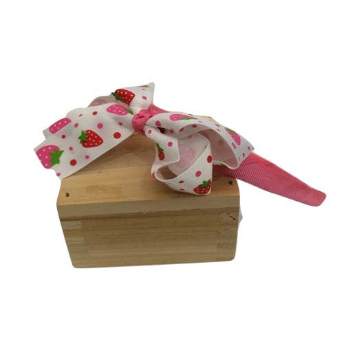 Strawberry Bow Hair Band