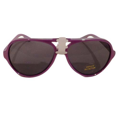 Girls Aviator Sunglasses (Purple)