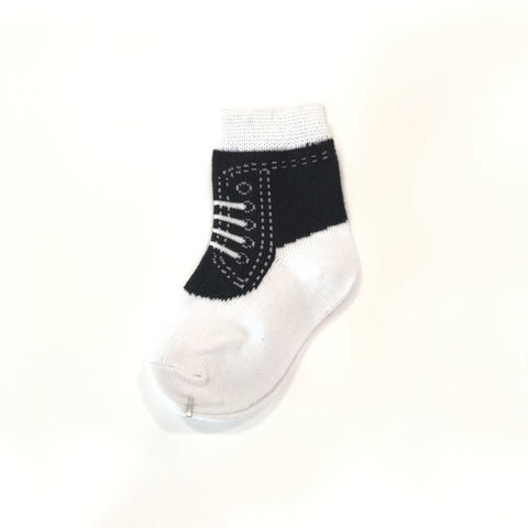 Baby Boy Sneakers Socks (Black)