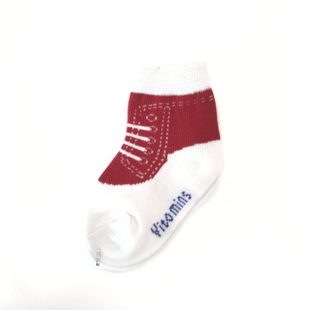 Baby Boy Sneakers Socks (Red)