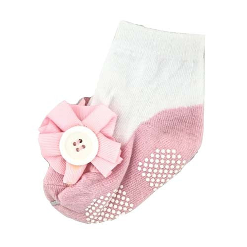 Baby Girl Button Bow Socks