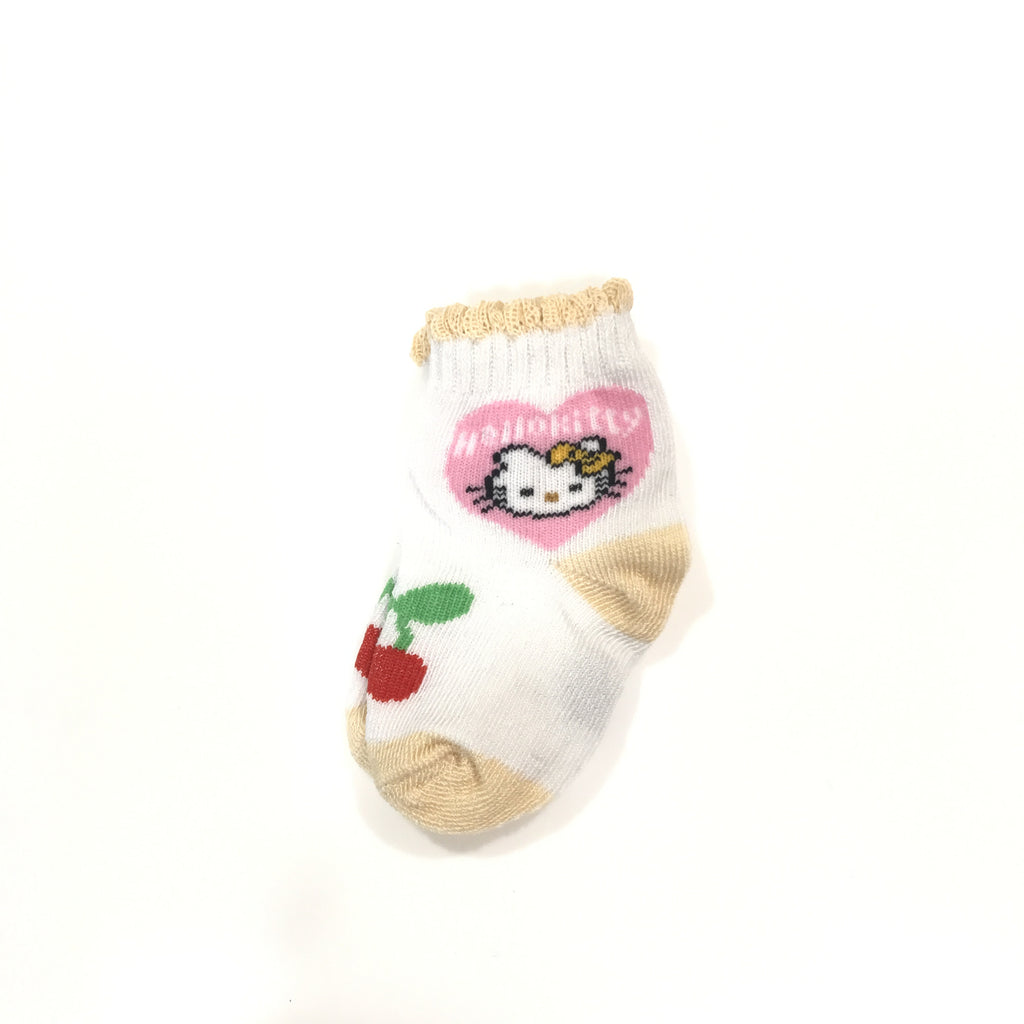 Newborn Hello Kitty Socks (Yellow)
