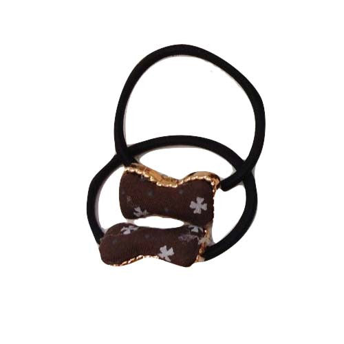 Little Bow Hair Tie (Brown)