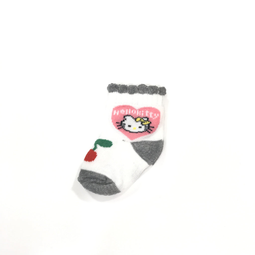 Newborn Hello Kitty Socks (Grey)