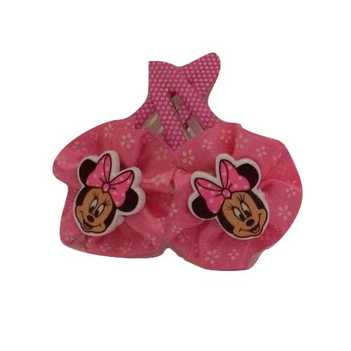 Minnie Bow Clip - Dark Pink