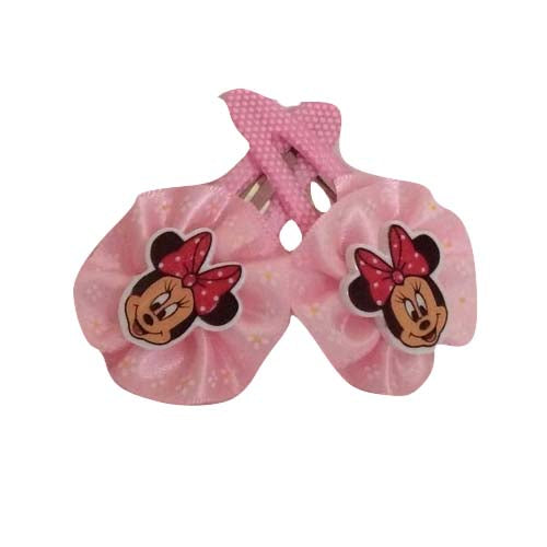 Minnie Bow Clip - Light Pink