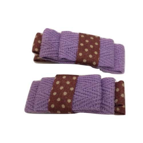 Plain Bow Clip - Purple