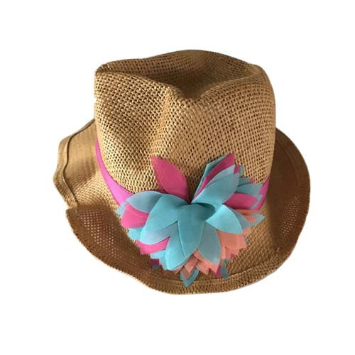 Girl Straw Hat Fedora