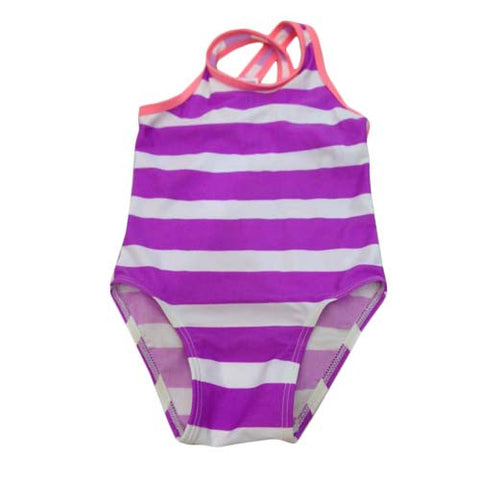 Purple Stripe Swim Suit