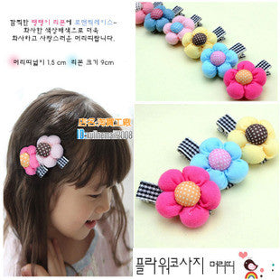 Flower Bow Clip