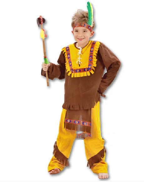 Red Indian Child Costume