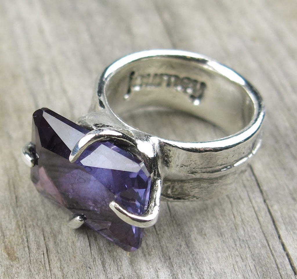 Talon Ring with Alexandrite