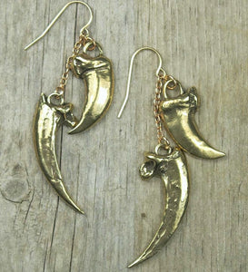 Raven Talon & Wolf Claw Earrings