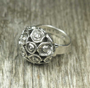 Seed Pod Ring: Diamonds