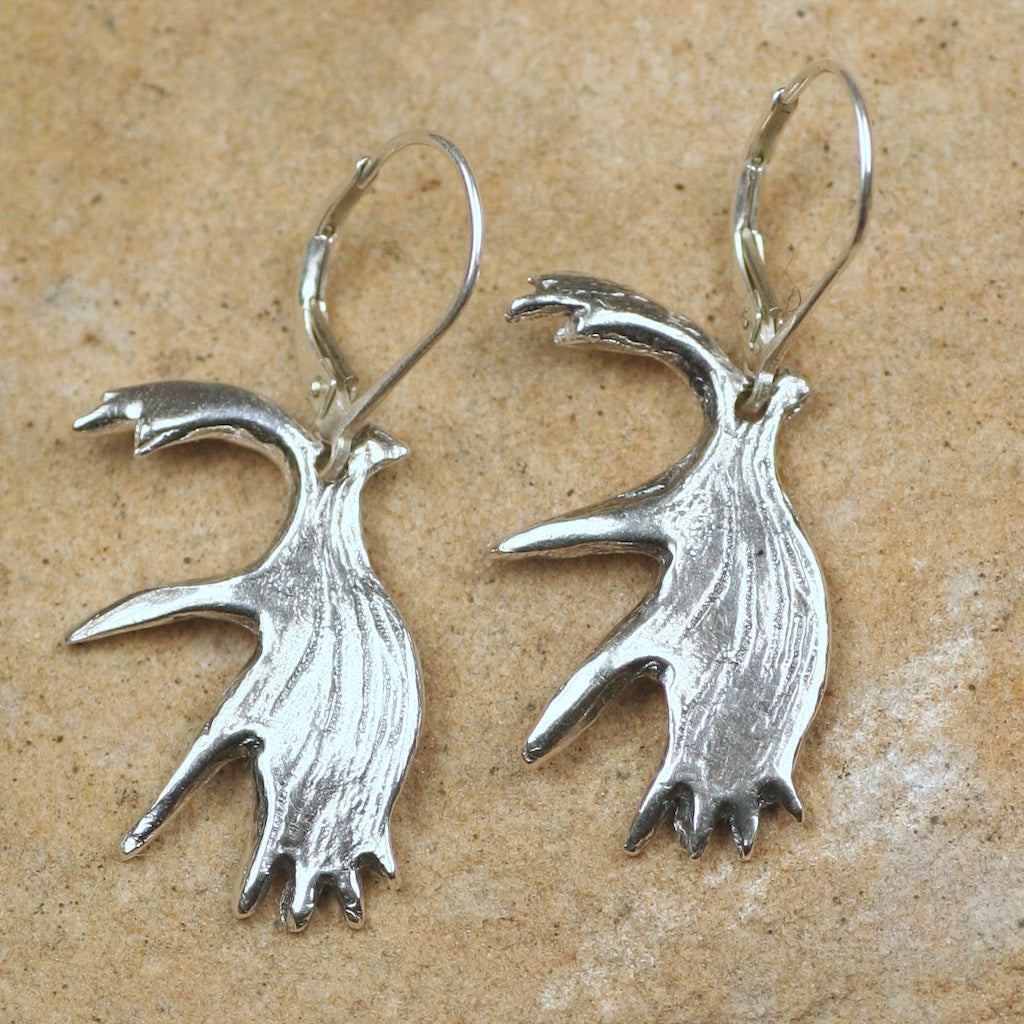 Moose Antler Earrings: Small