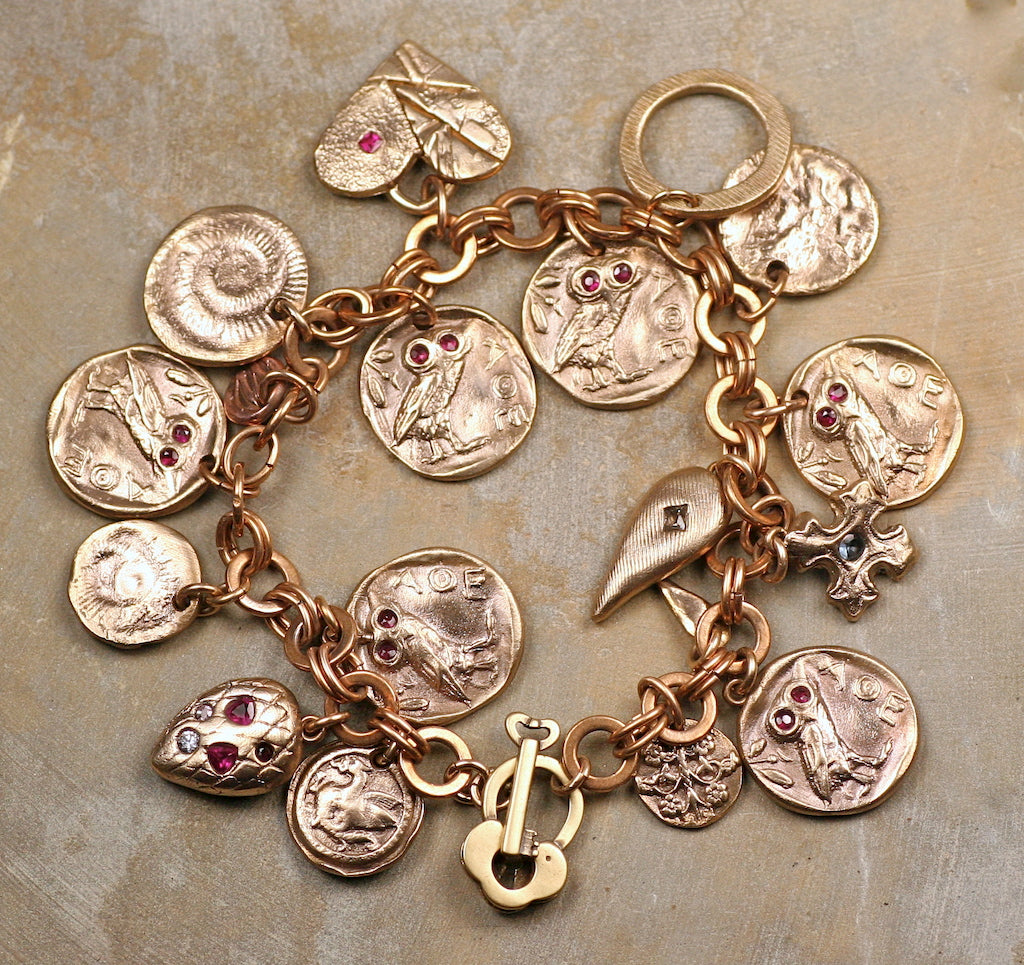 Charm Bracelet: Ancient Owls, Rubies & More