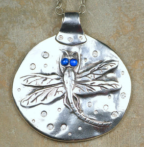 Dragonfly Circle Pendant, Large