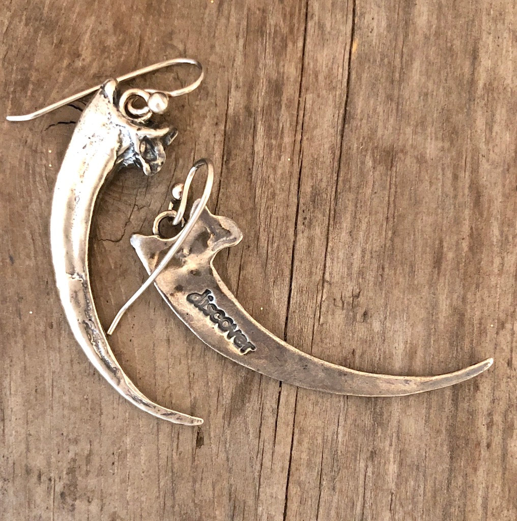 Golden Eagle Talon Earrings