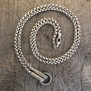Heavy Box Chain: Hinged Circle for Pendants