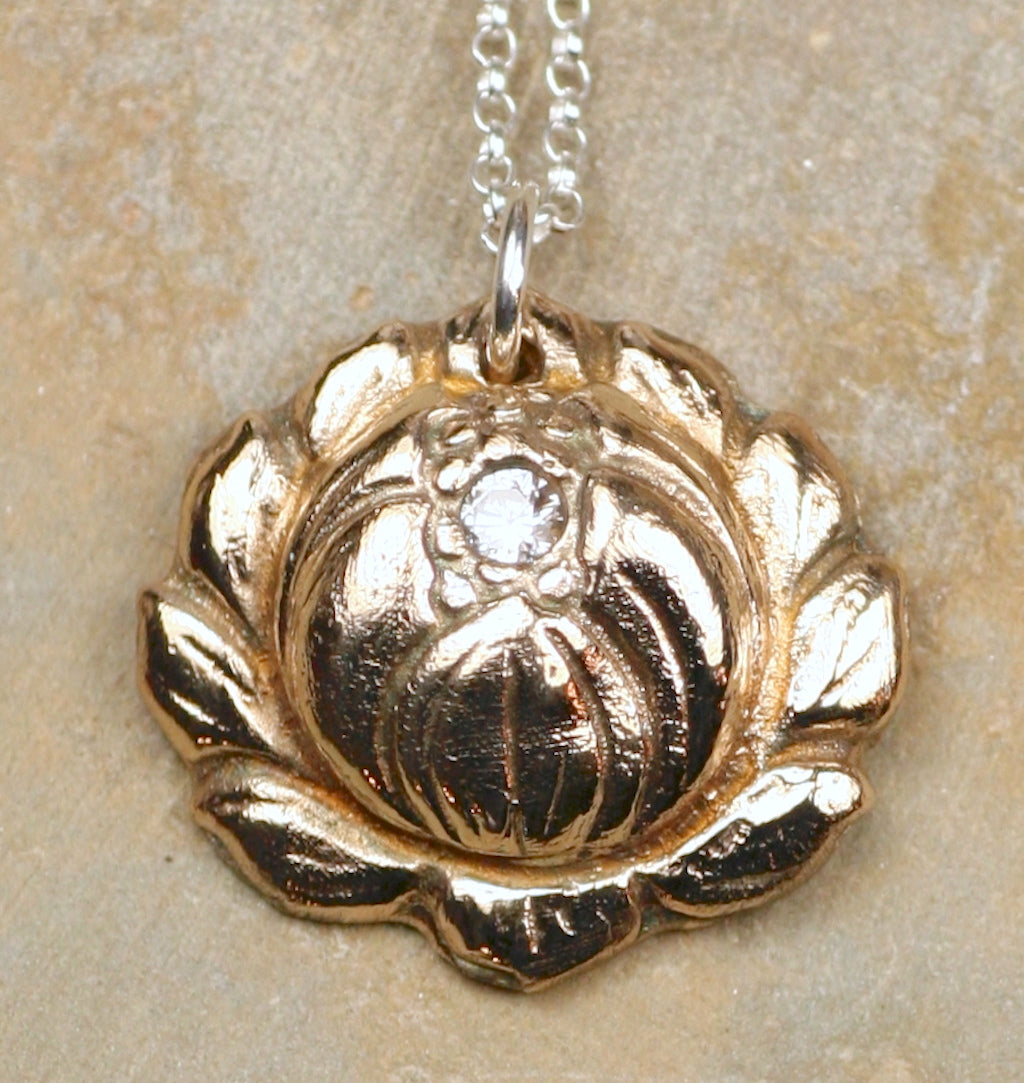 Traditional Lotus Flower Pendant