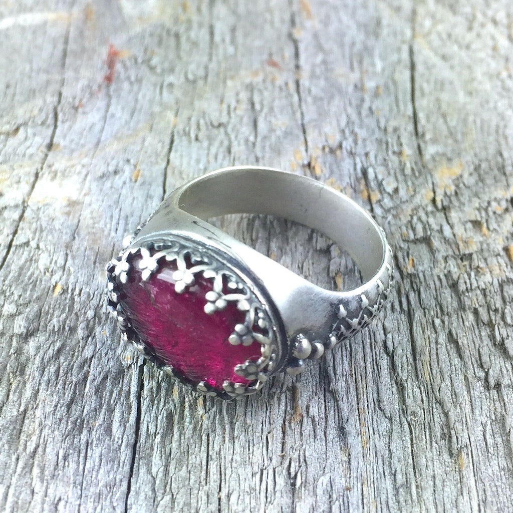 Rubellite Princess Ring