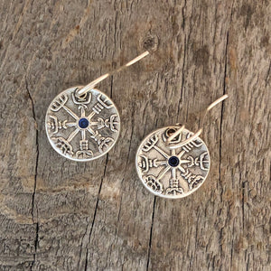 Viking compass earrings