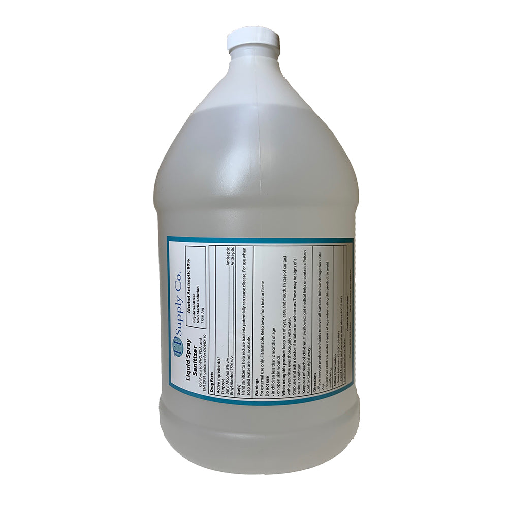 1 Gallon Medical Grade Liquid Sanitizer - 72% ABV