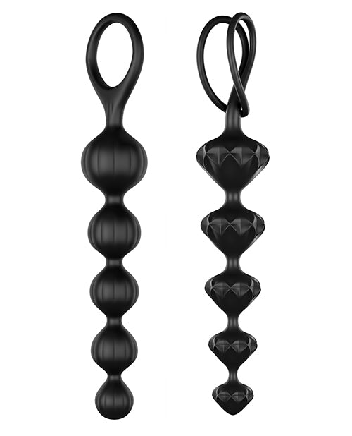 Satisfyer Soft Silicone Beads - Black
